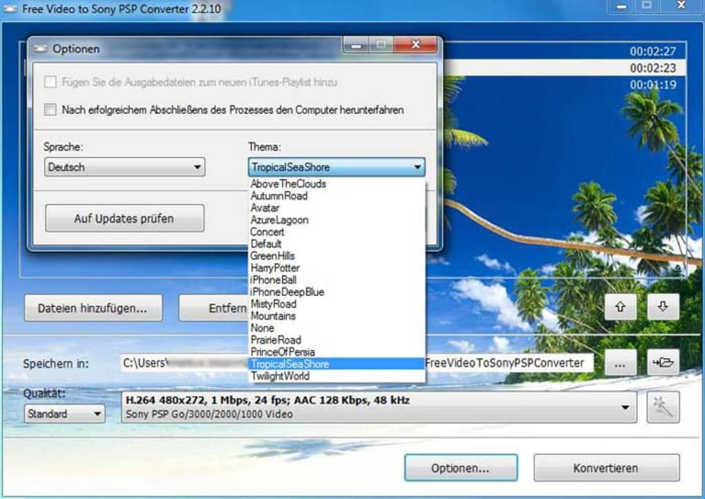 Free video to sony psp converter download.