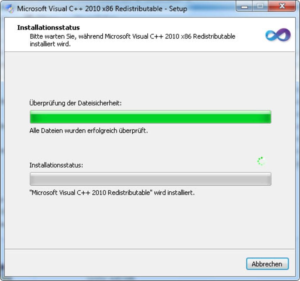 microsoft visual c++ 2010 redistributable package (x32)