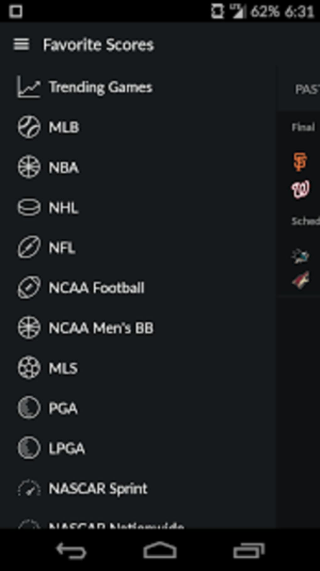 Yahoo Sport for Android - Download