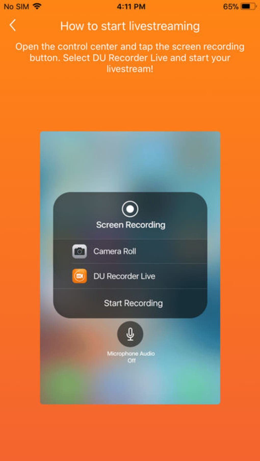 DU Recorder Live for iPhone - Download