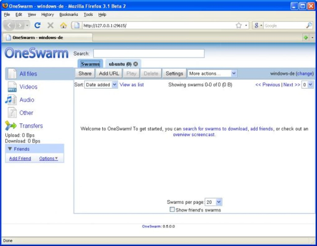 oneswarm windows