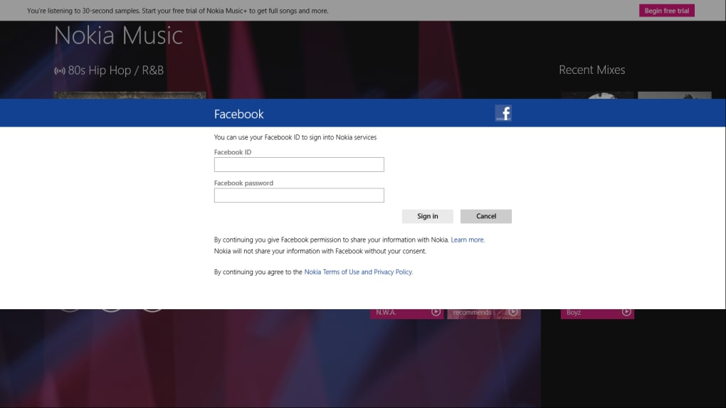 Manage your Nokia music