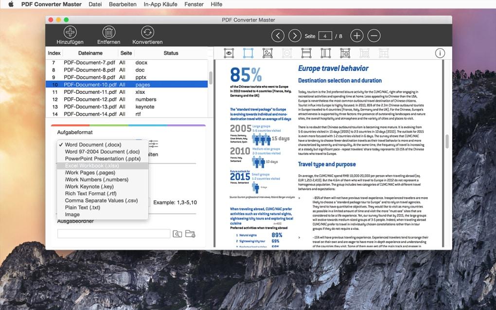 PDF-Dokumente in Excel-Dateien umwandeln.