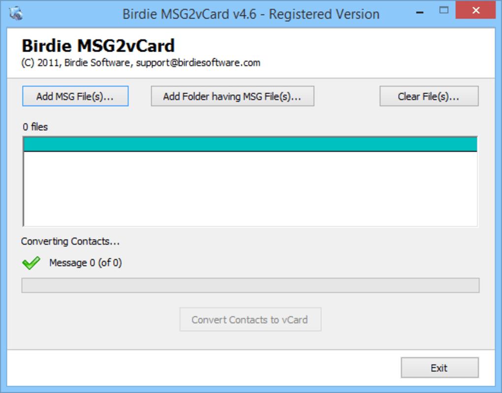 Birdie MSG to vCard Converter - Download
