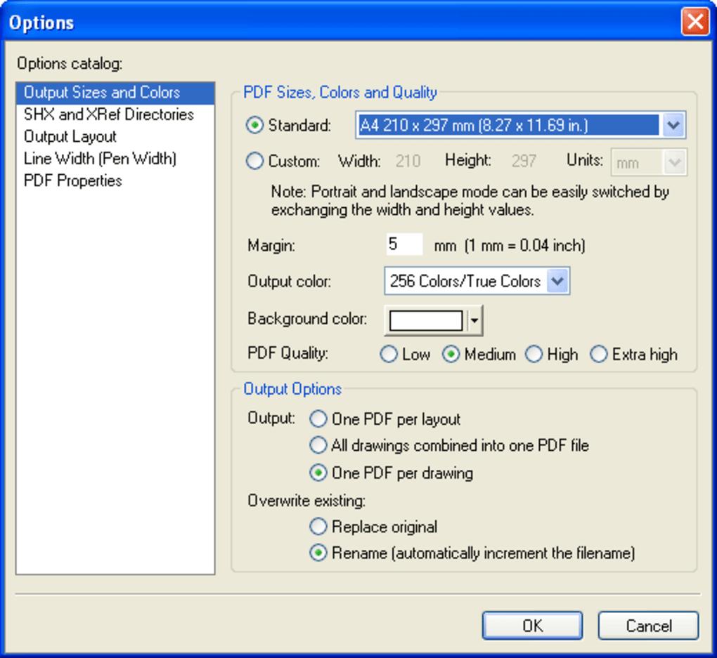 Converter arquivos em pdf para dwg trueview
