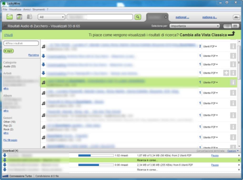 limewire gratis italiano per windows 7