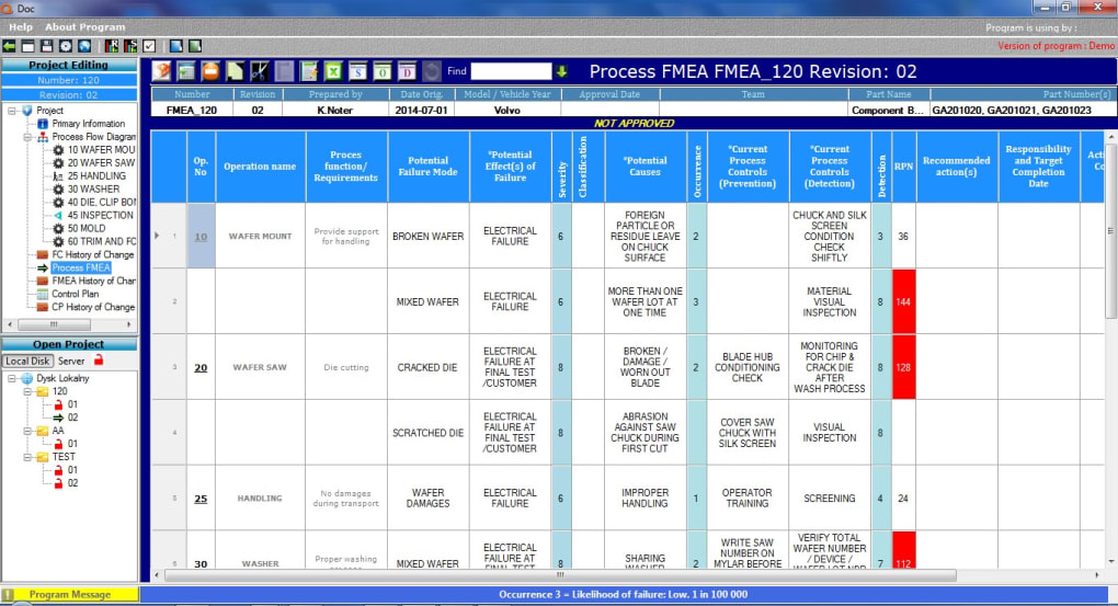 Qdoc software flow chart control plan fmea download for Process flow diagram software open source
