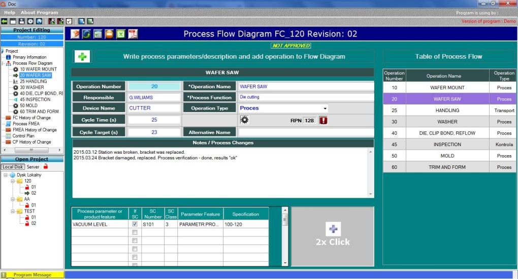 Qdoc Software - Flow Chart, Control Plan, FMEA