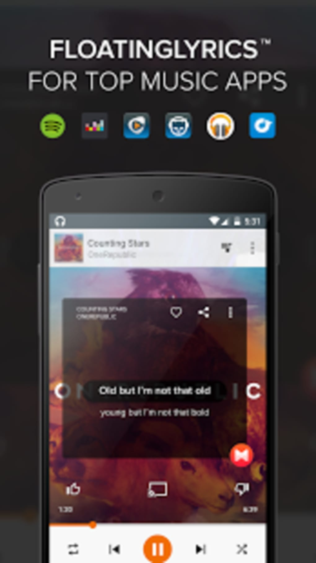 MusiXmatch Lyrics & Music for Android - Download