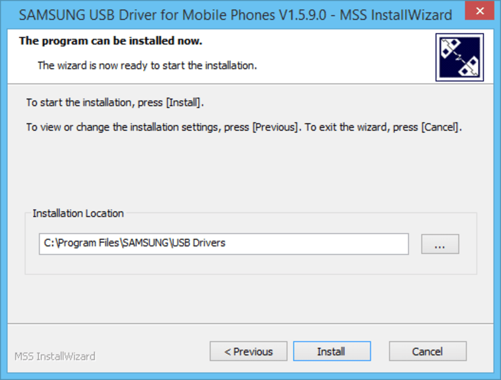 THE MSS INSTALLATION FOR SAMSUNG USB DRIVERS FOR WINDOWS VISTA