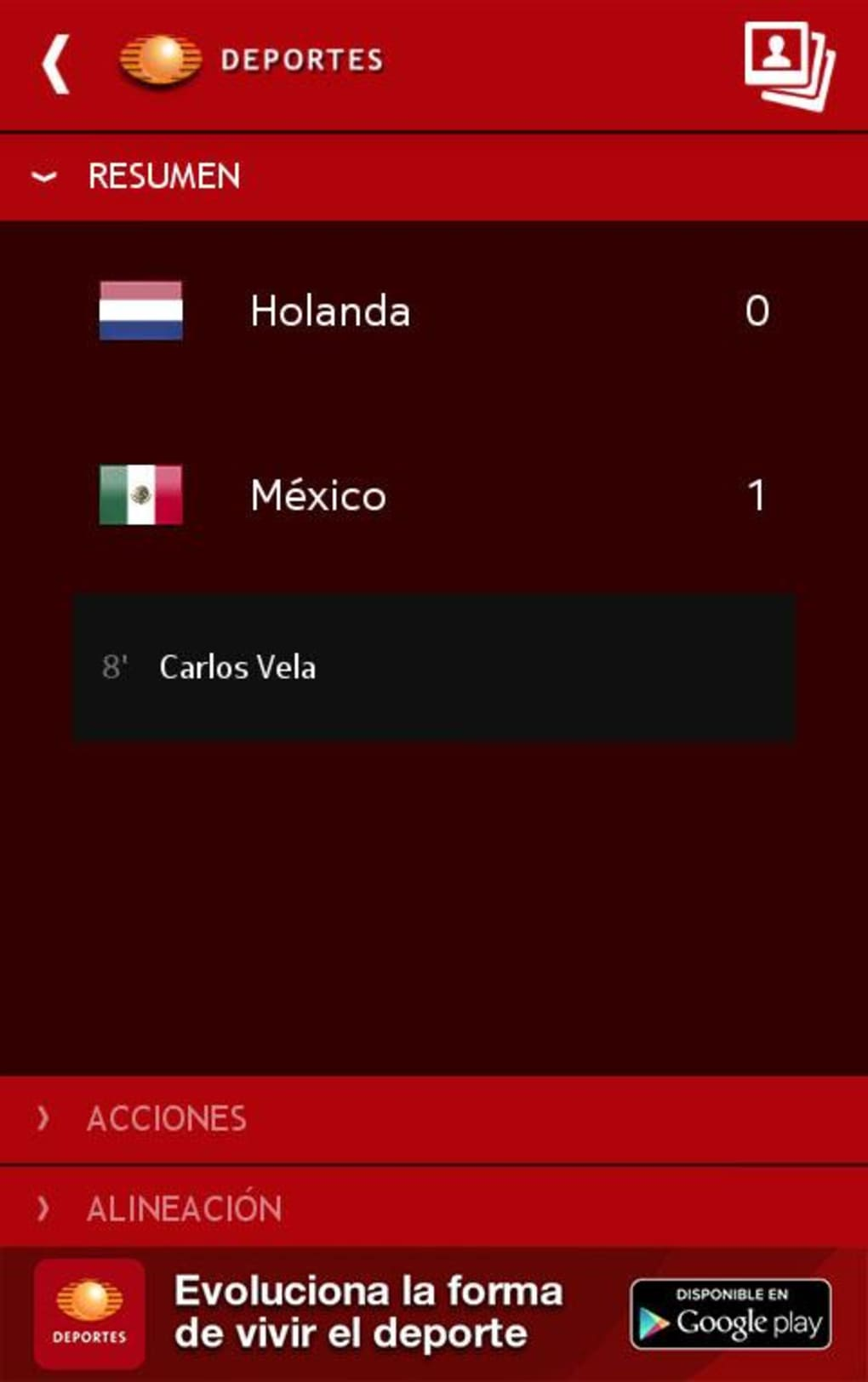 Televisa's official app