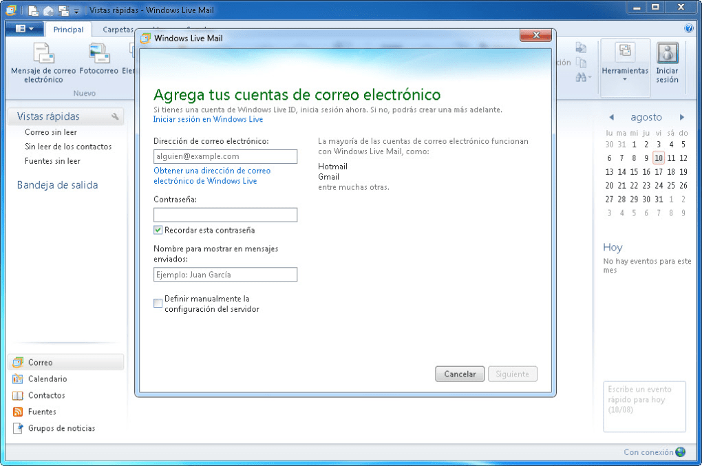 windows live mail windows descargar