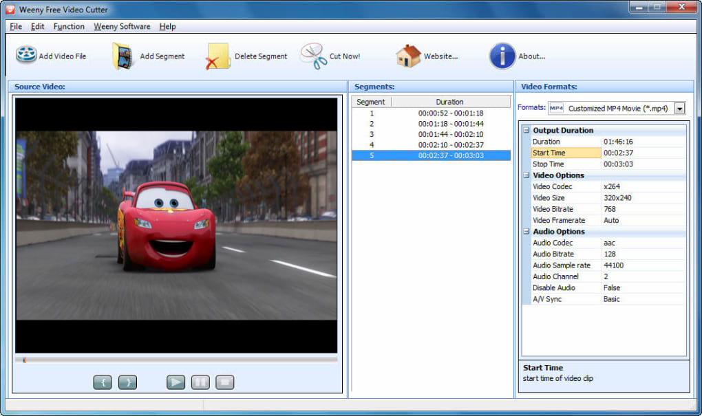 Video cutter free download.