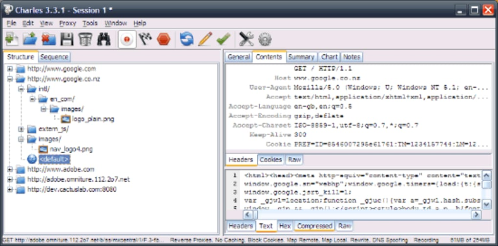 Charles Web Debugging Tool - Download