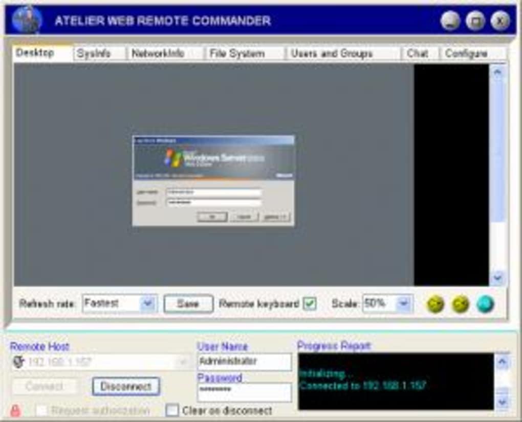 atelier web remote commander 7.54