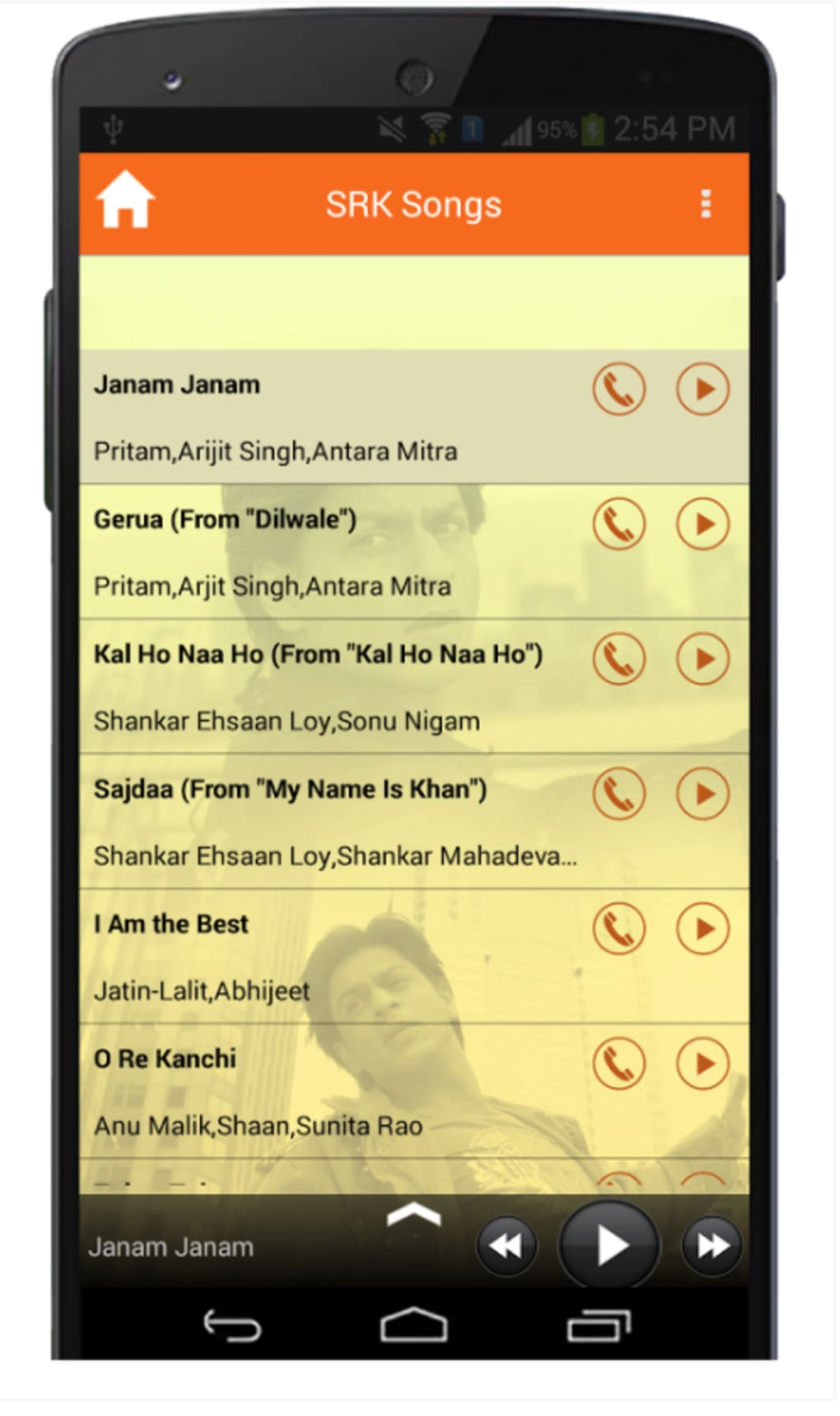 SRK Hindi Movie Songs for Android - Download