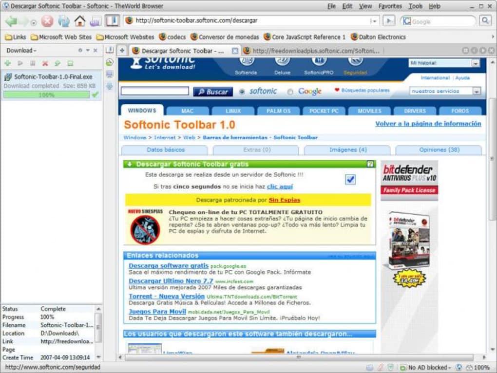 a9fa383b9 TheWorld Browser - Descargar