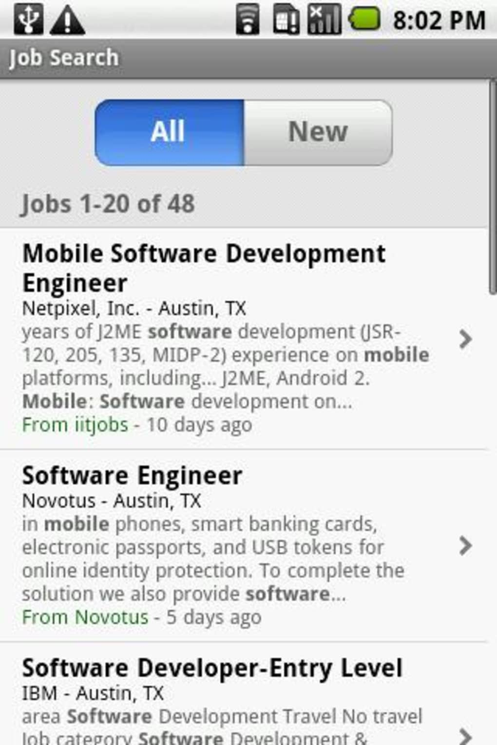Indeed Job Search for Android - Download
