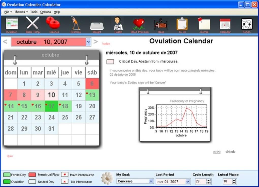 Ovulation Calendar Calculator Download