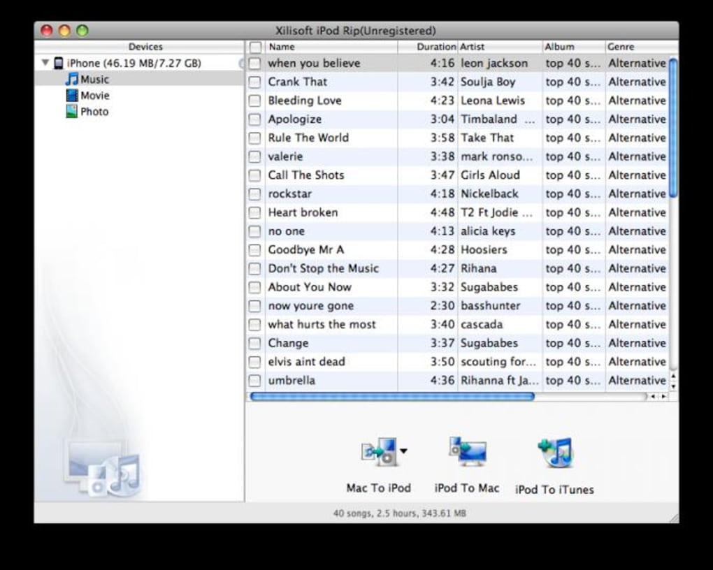Xilisoft iPod Rip for Mac - Download