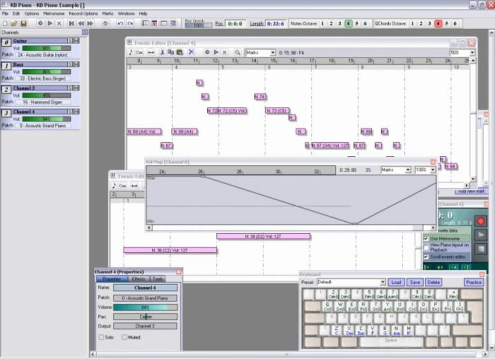 Jeux de réflexion. Jeu de piano en ligne, doté d'un clavier 5 octaves (61 notes), d'une fonction sustain et de la possibilité de vous enregistrer pendant que vous jouez.