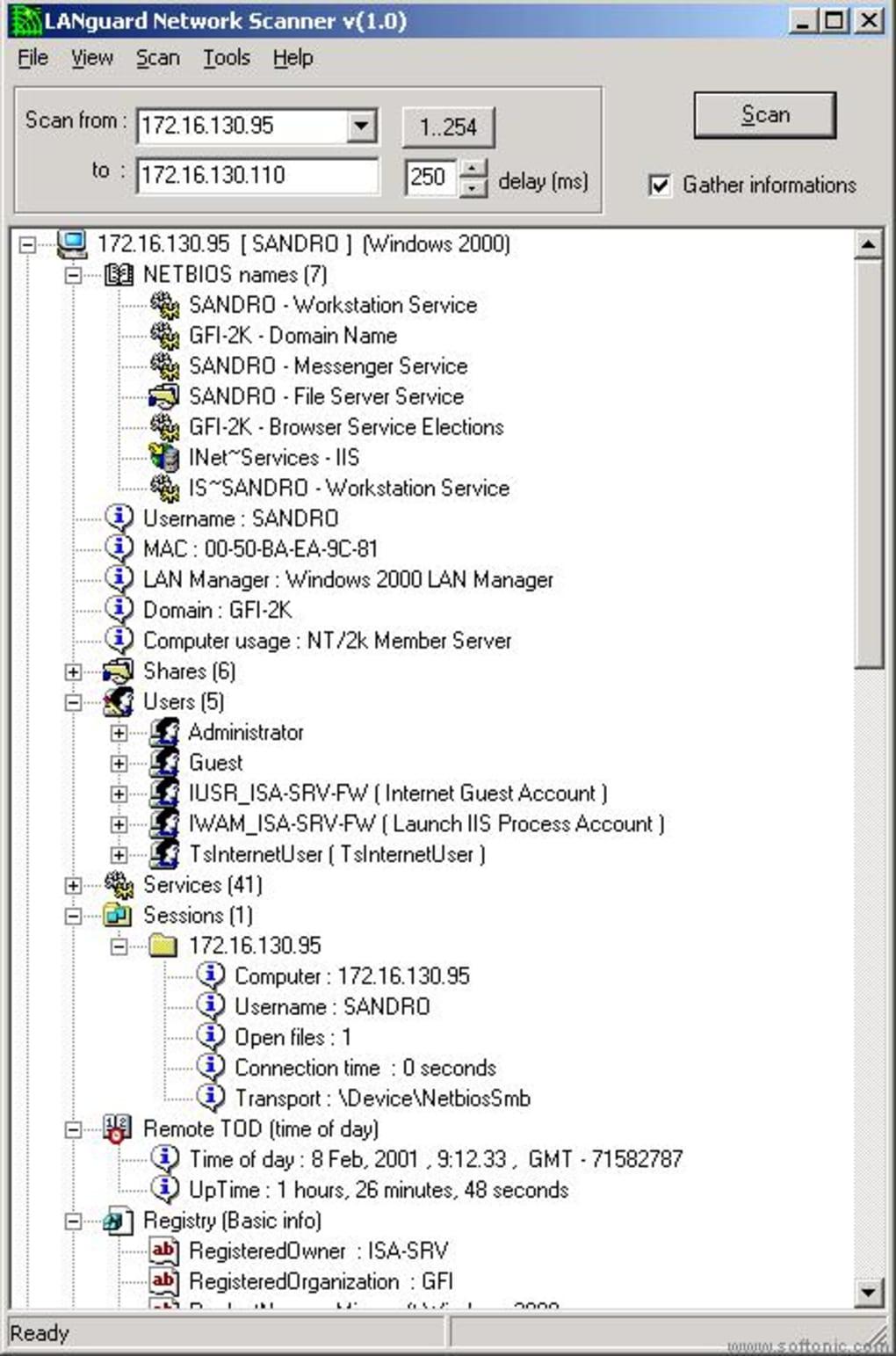 languard network security scanner mac