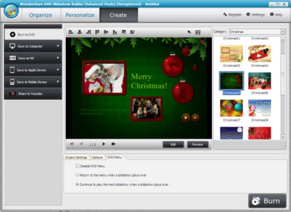 Wondershare DVD Slideshow Builder - Download