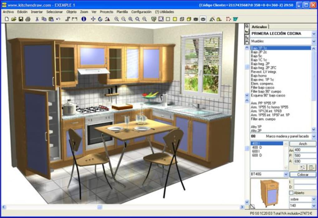 Kitchendraw descargar for Programa para diseno de muebles