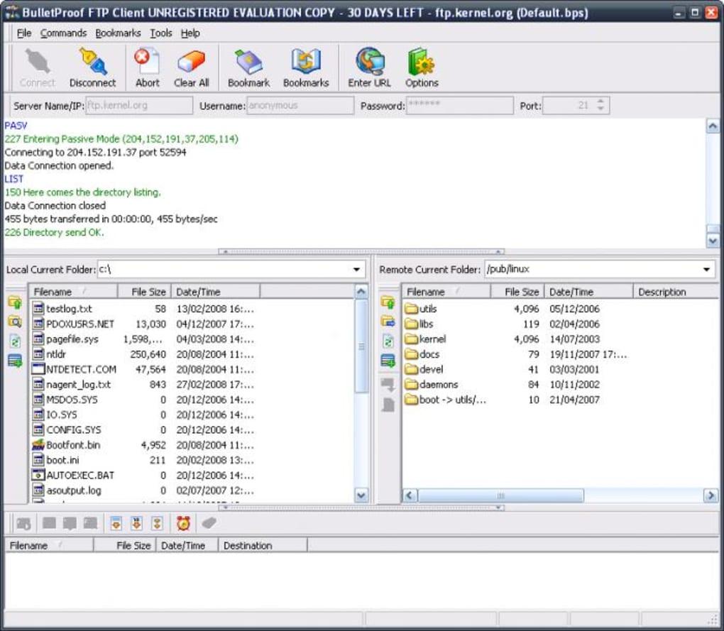 bulletproof ftp server gratuit