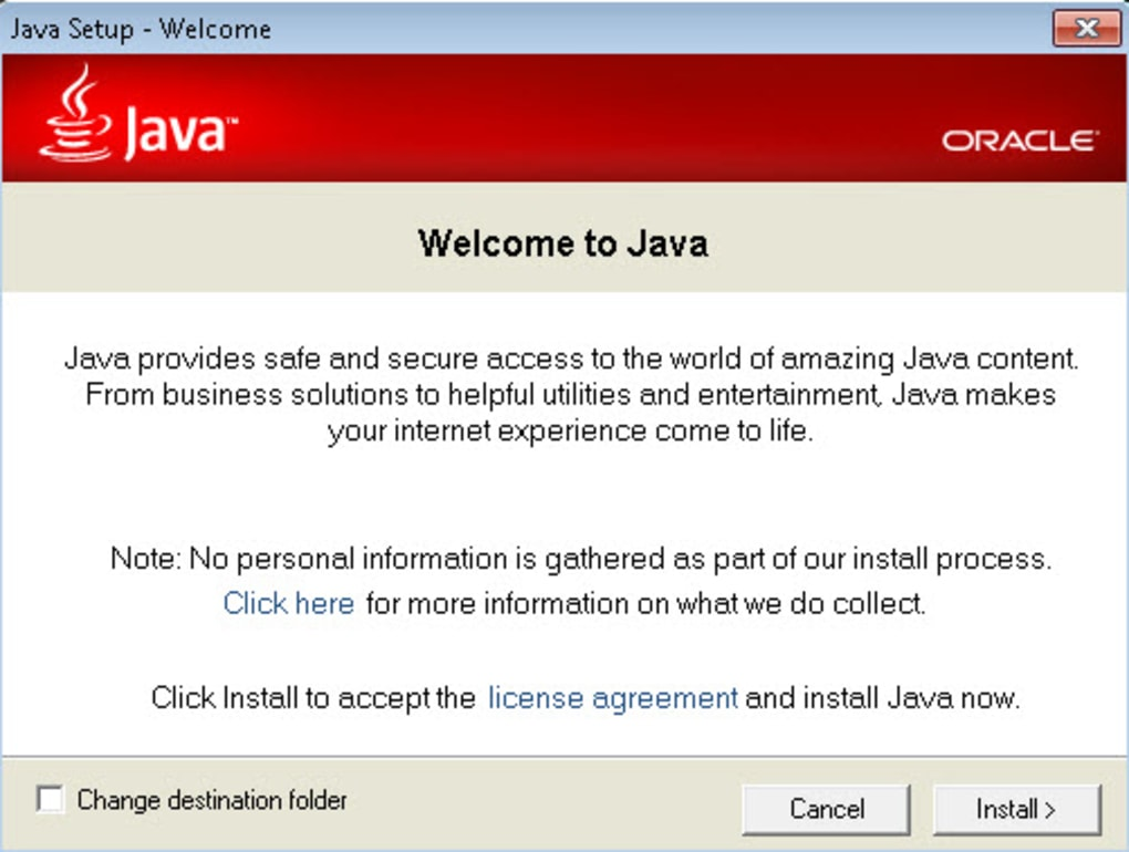 java runtime environment 1.5.0