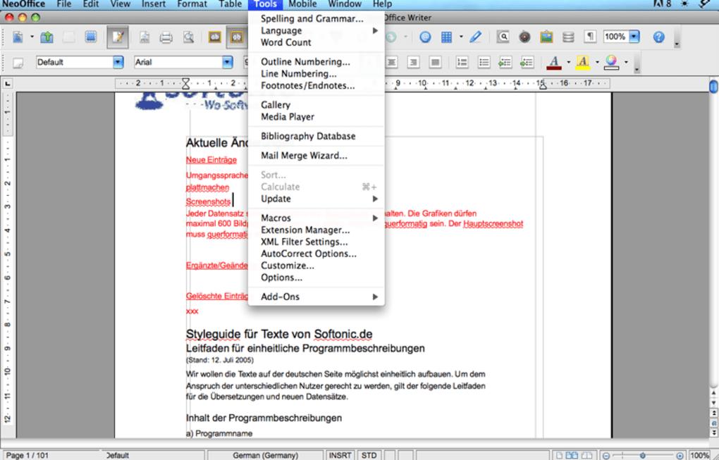 Neooffice for mac download pros altavistaventures Gallery