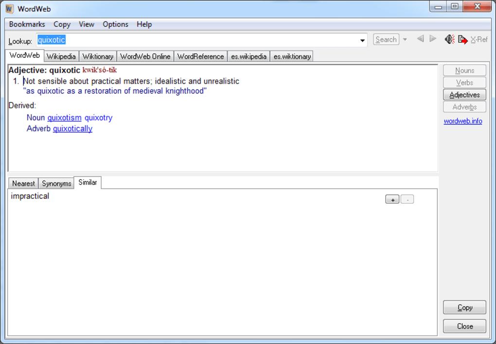 Download wordweb 8. 03 filehippo. Com.