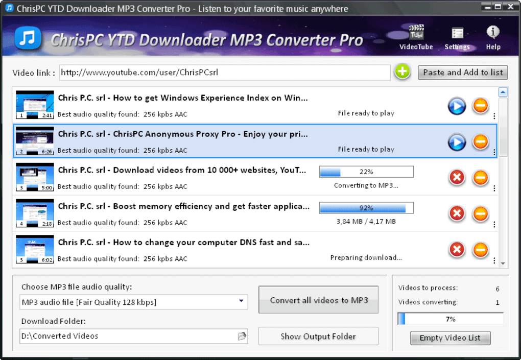 youtube downloader and converter to mp3 free download for windows 7
