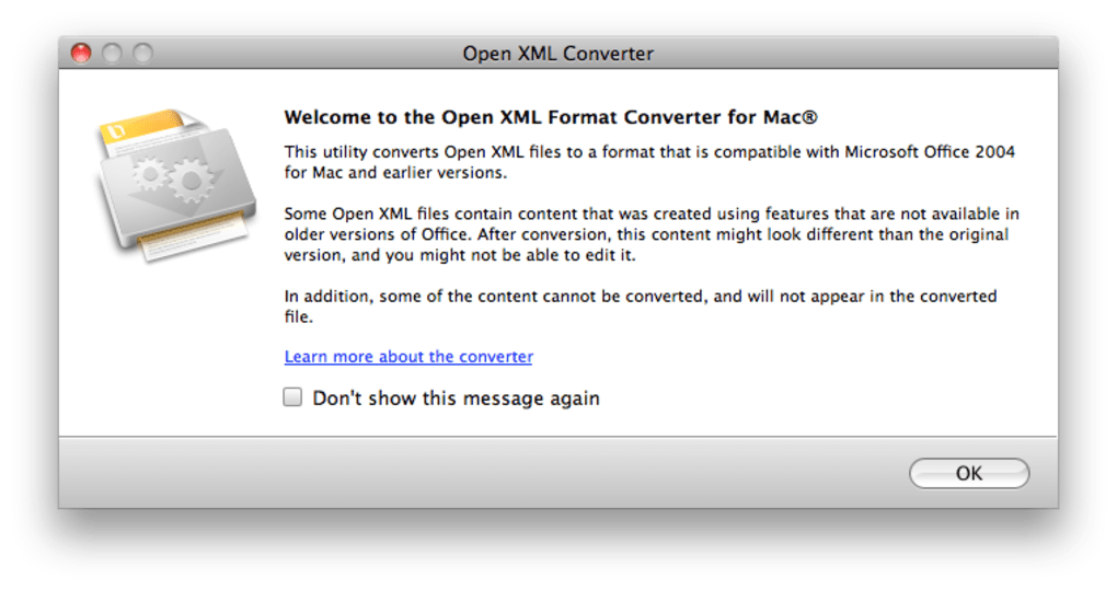 Microsoft Office Open XML File Format Converter for Mac (Mac) - Download