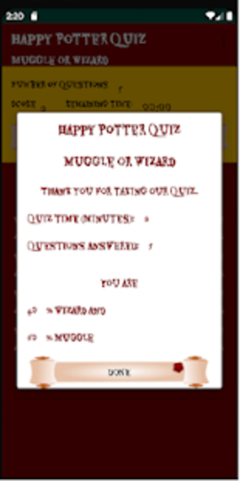 Harry Potter Quiz - Muggle or Wizard for Android - Download