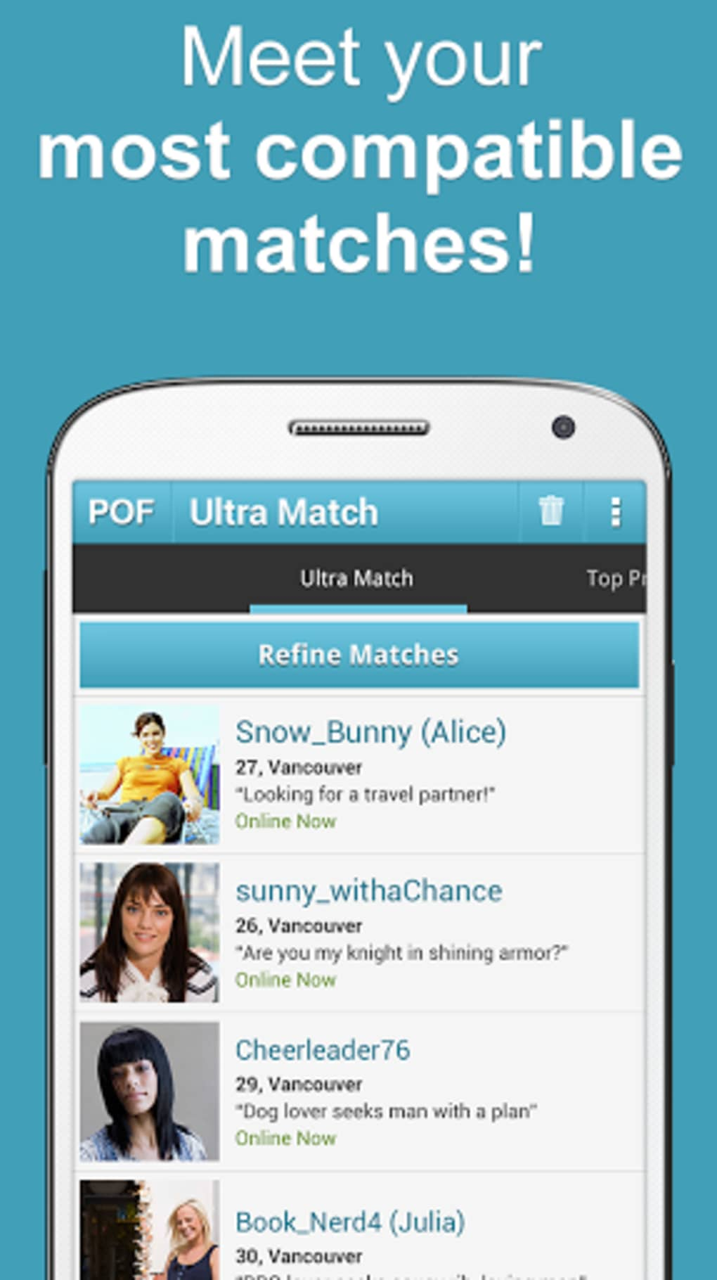 Free dating apps pof