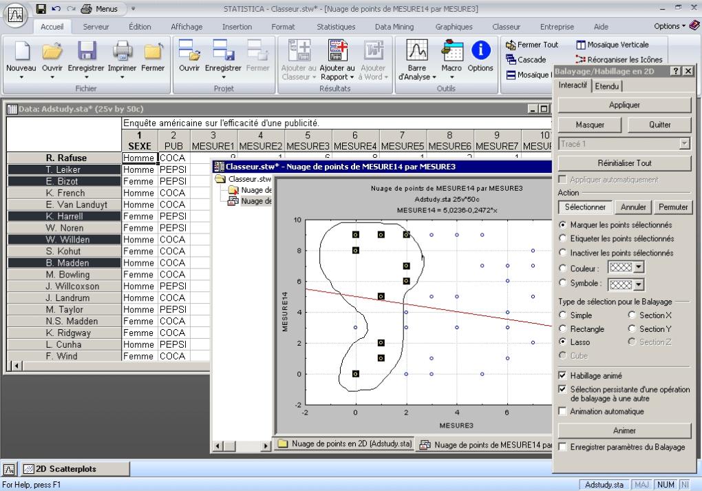 statistica logiciel
