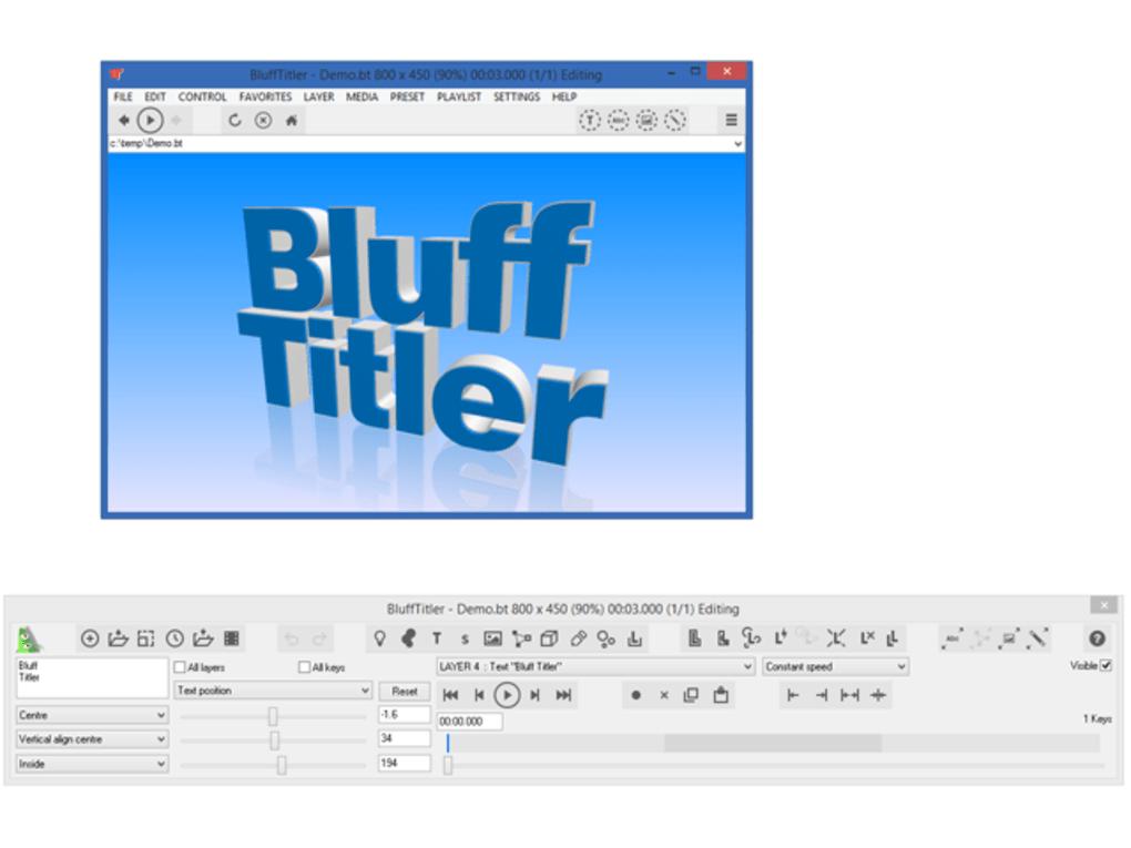 blufftitler windows 7