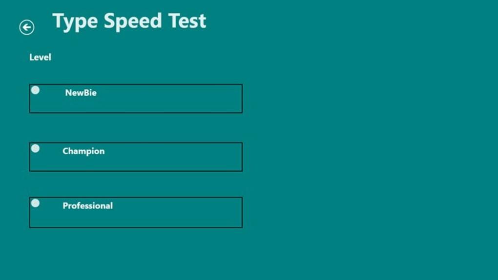 Type Speed Test for Windows 10 (Windows) - Download