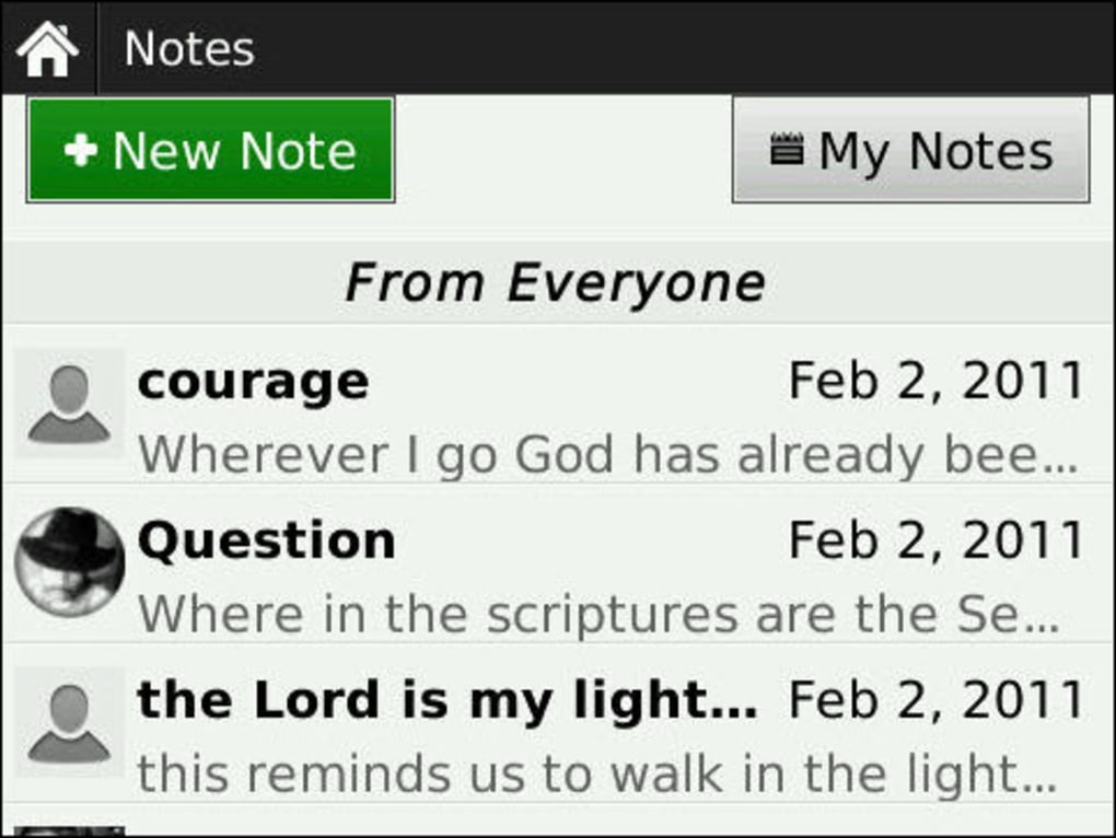 Study bible app for blackberry