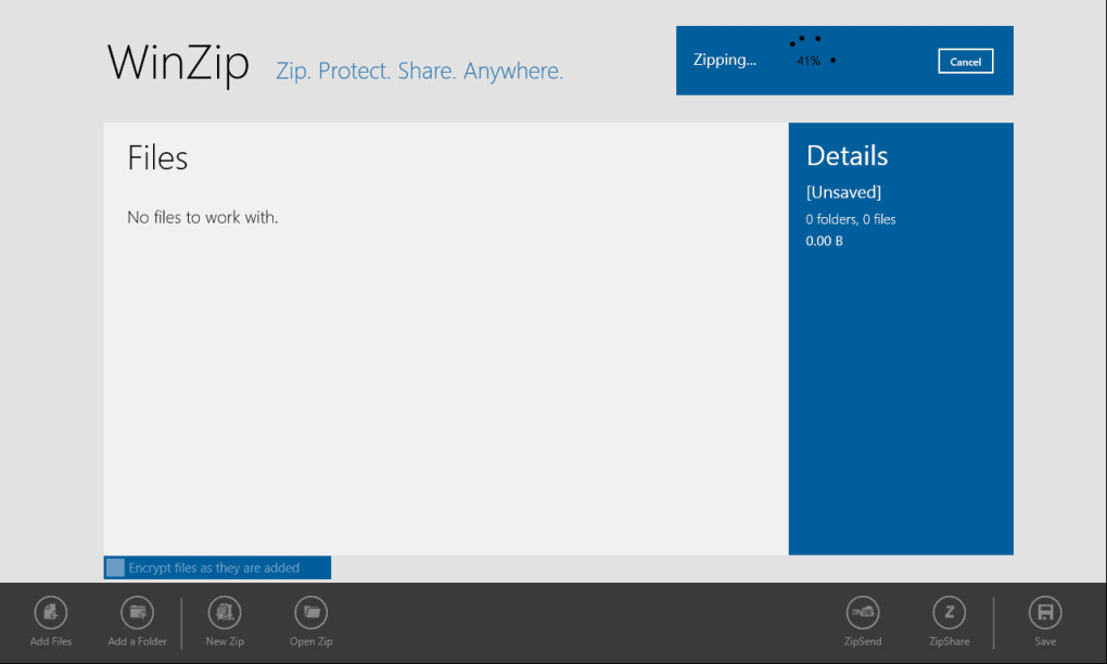 Winzip 9 has a new version: download a free trial now.