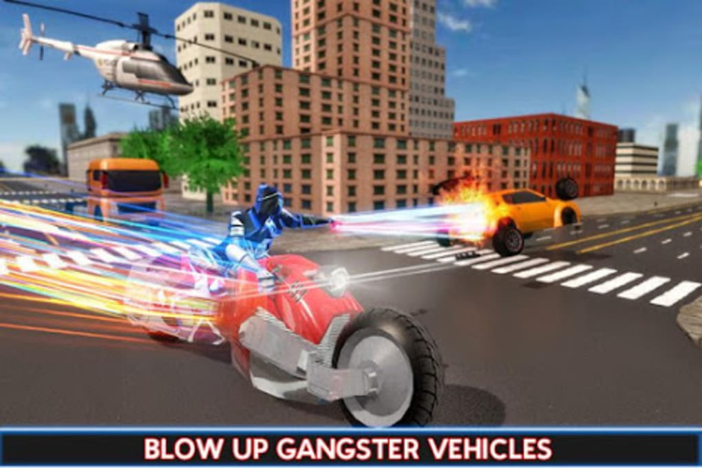 US Police Robot Speed Hero Crime Bike Rider for Android