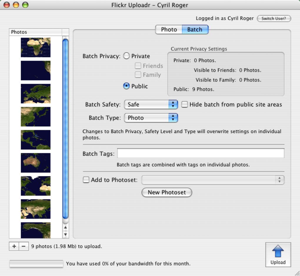 flickr uploadr gratuit