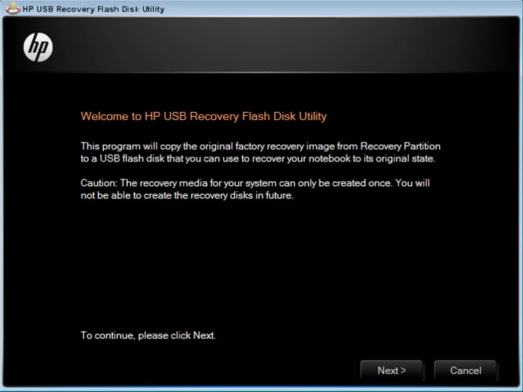 HP USB Recovery Flash Disk Utility - Download