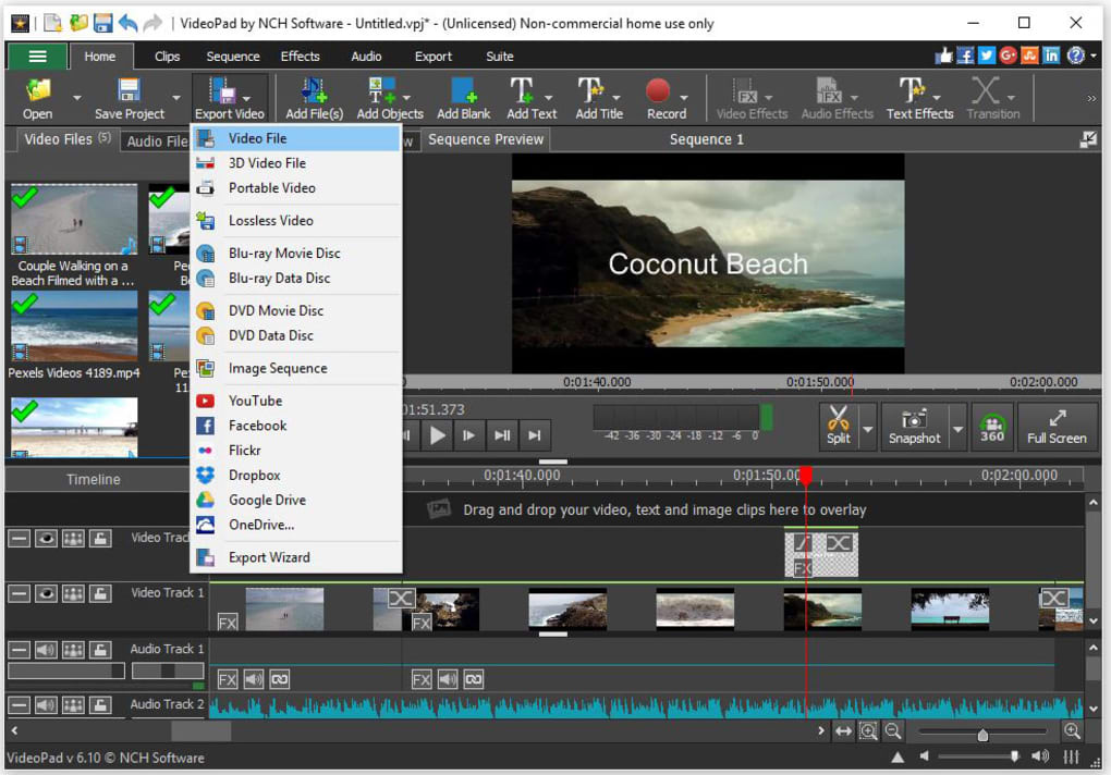 VIDEO EDITOR VIDEOPAD 3.01 TÉLÉCHARGER