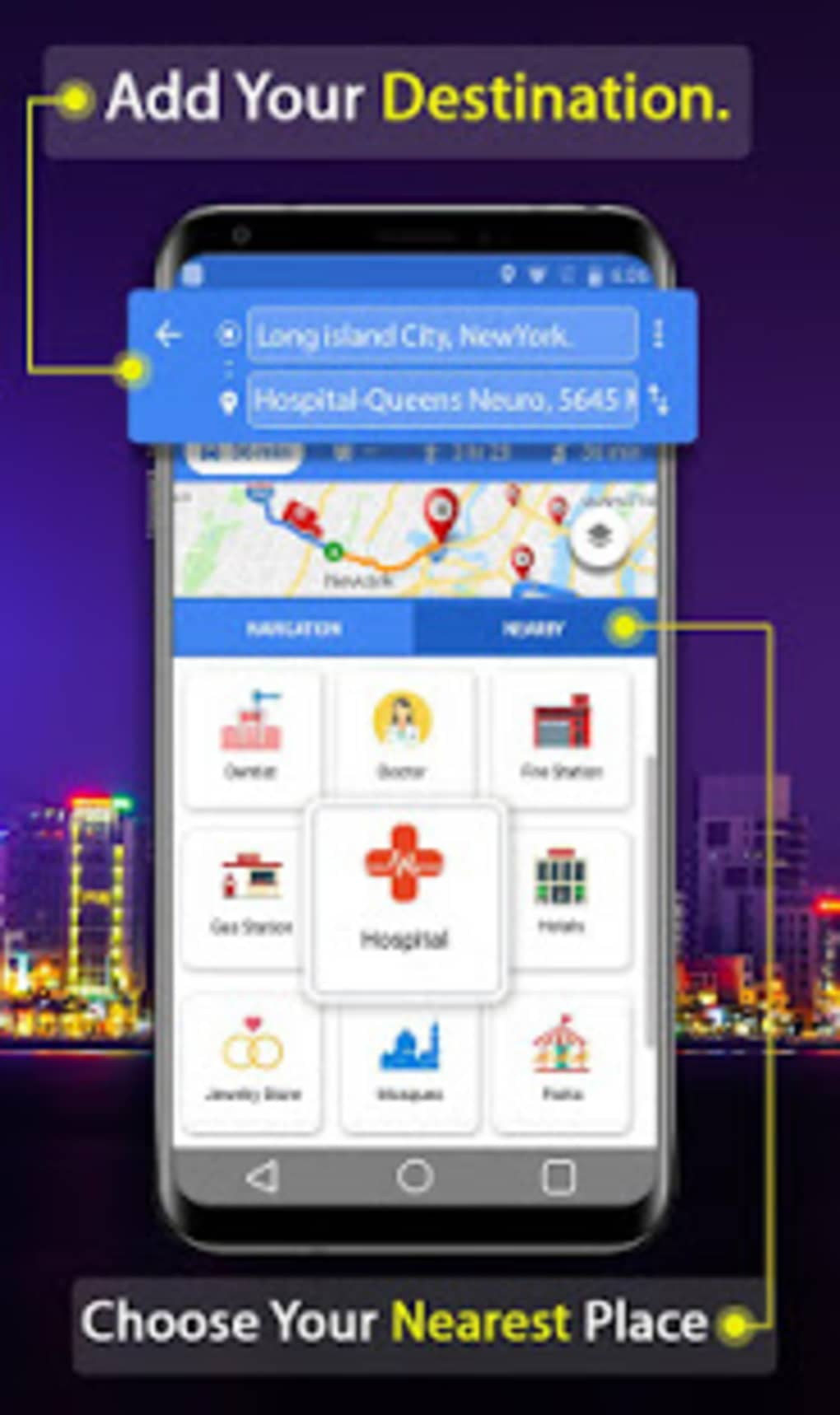 GPS Route Finder Voice Navigation and Live Map for Android - Download