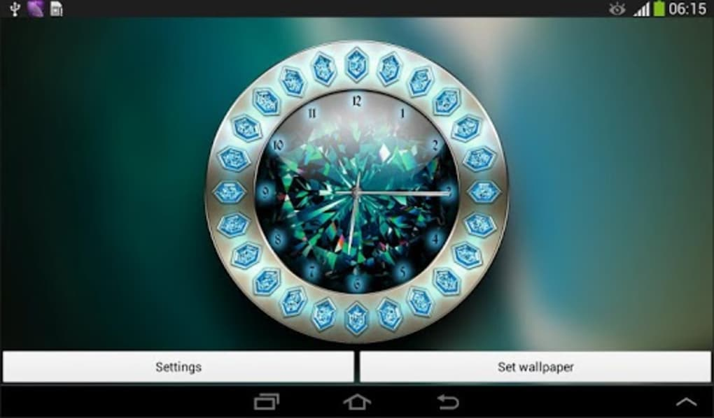 Crystal Clock Live Wallpaper for Android - Download