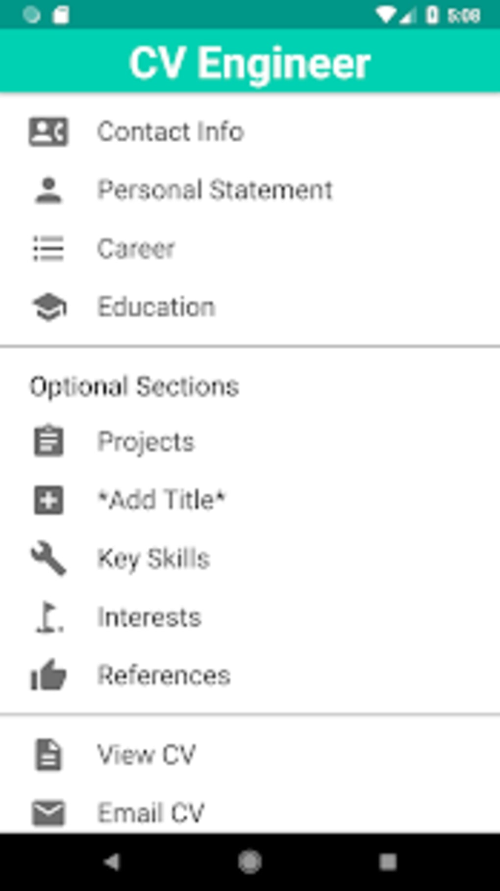 CV Engineer Free Resume Builder CV Template for Android ...