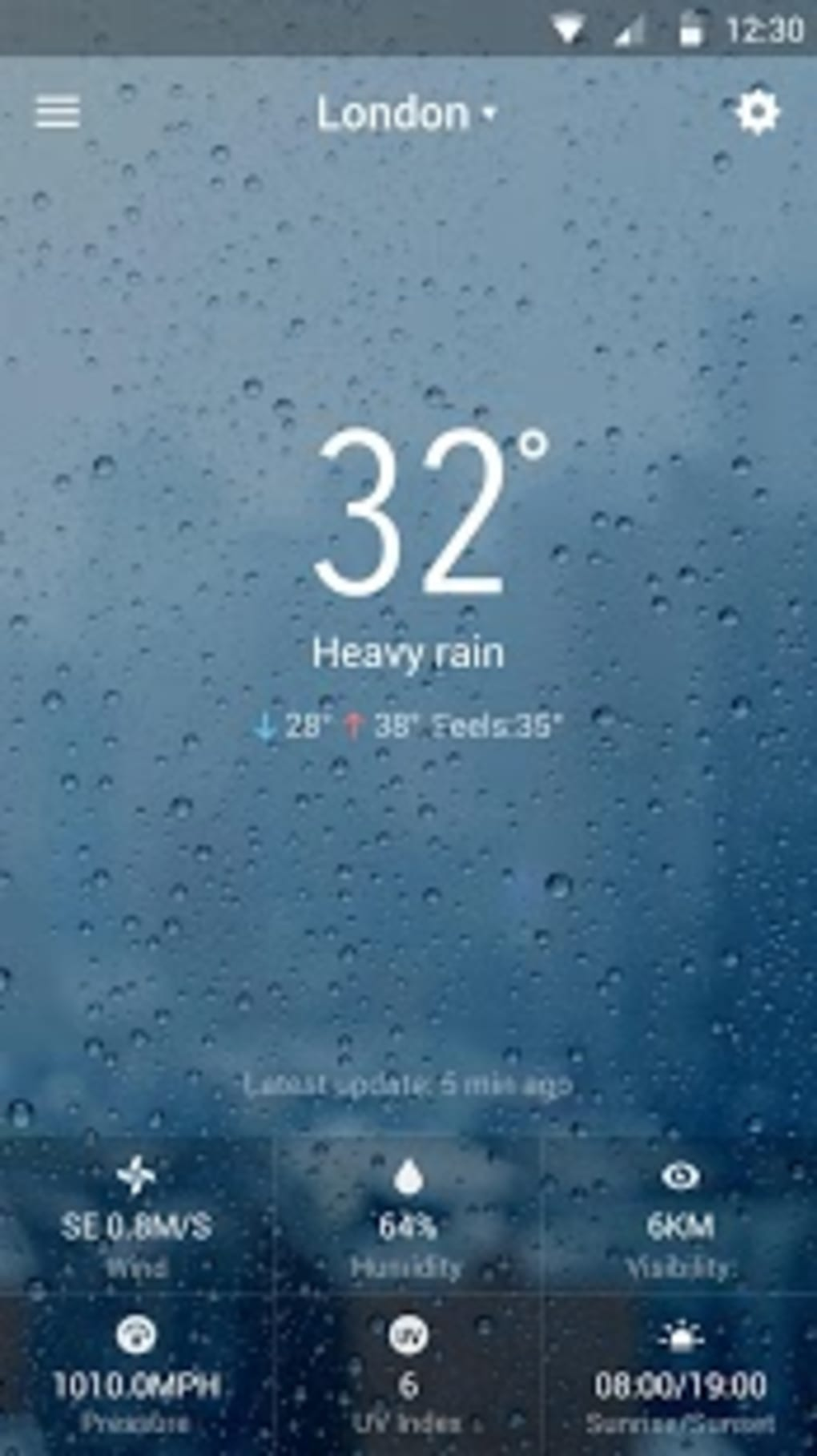 iWeather-The Weather Today HD for Android - Download