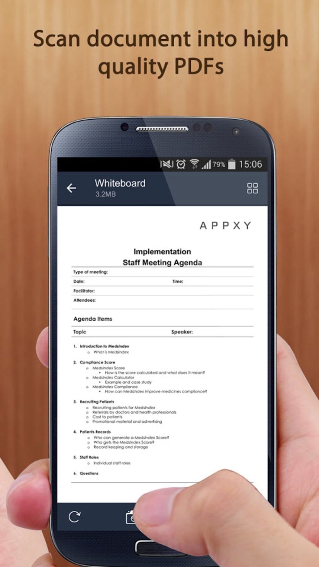 how to scan to pdf on android